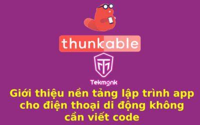 Lập trình app bằng Thunkable miễn phí